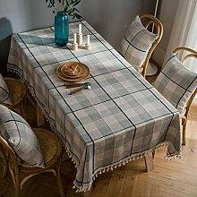 Tischdecke aus Baumwolle Mit Quastenkante,