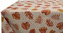 Tischdecke aus Baumwolle Muster EVA 140x240 Arancio