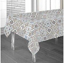 Tischdecke aus Baumwolle Position Steingut 140x140 beige