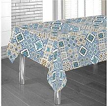 Tischdecke aus Baumwolle Position Steingut 140x240 blau