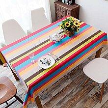 Tischdecke Aus Baumwolle Und Leinen, Bunte