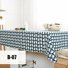 Tischdecke Aus Baumwolle Und Leinen Einfache