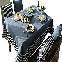Tischdecke aus Baumwolle und Leinen, rechteckig,
