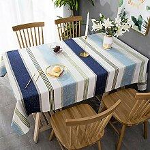 Tischdecke aus Baumwolle und Leinen,Rechteckige