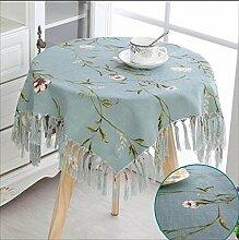 Tischdecke aus Baumwolle und Leinen Tischdecke aus