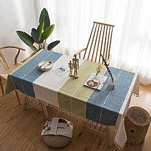 Tischdecke Aus Baumwollleinen, Rechteckige
