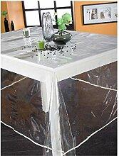 Tischdecke aus Kunststoff, rund, 140cm,