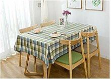 Tischdecke aus Leinen, rechteckig, für Partys,