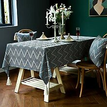 Tischdecke Aus Leinen Und Baumwolle, Tischdecke
