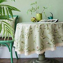 Tischdecke Aus Leinenkleine Blumen Home Restaurant