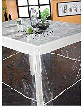 Tischdecke aus plastique140x 250cm transparent