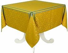 Tischdecke aus Polyester, Curry, 150 x 150 cm