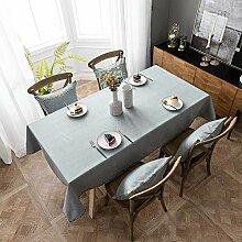 Tischdecke aus reinem Baumwollleinen,