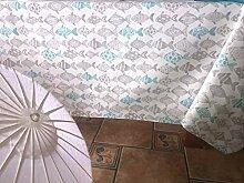 Tischdecke aus Segeltuch, Bedruckt, 140 x 140 cm,