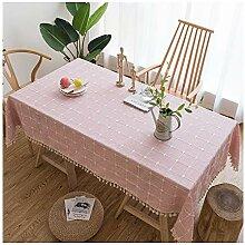 Tischdecke aus Stoff - Deko aus Leinen, Stitching