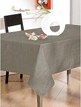 Tischdecke aus Stoff Taft Plisse rund