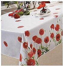 Tischdecke aus Wachstuch 140x 200cm Red Poppy