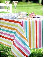 Tischdecke aus Wachstuch, rechteckig, 140x