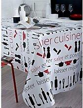 Tischdecke aus Wachstuch RUND 140cm Kochen