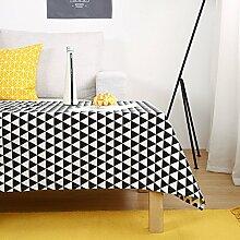 Tischdecke,baumwoll leinen nordic desk tisch tuch-E 110x160cm(43x63inch)