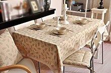 Tischdecke, Baumwoll-Leinen Olivenzweig Druck Ländlichen Stil Kaffee-Matten Tisch-Matten Rechteck ( größe : 140x160cm )