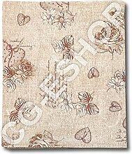 Tischdecke Baumwolle Fleur pink beige 140x 140/180/240/300/36090x 90 140x240