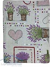 Tischdecke Baumwolle Landhausstil Lavendel Lavandes de Bonnieux rot–cm. 180rund