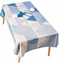 Tischdecke Baumwolle Leinen Stoff Rechteckig