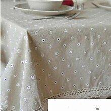 Tischdecke Baumwolle Leinen Tischdecke Druck