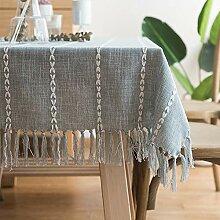 Tischdecke Baumwolle Leinen Tischdecke Quaste