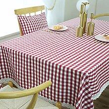 Tischdecke Baumwolle Tischdecke Square Plaid