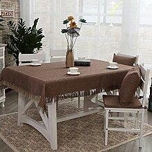 Tischdecke Baumwolle und Leinen Quasten