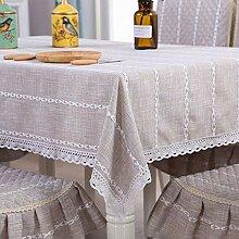 Tischdecke Baumwolltischdecke Haushaltsfransen