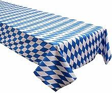 Tischdecke, Bayern Raute, Weiß Blau, Baumwolle, Biertisch, Biertischtischdecke, Landesfarben, Staatsflagge | 120x270 cm