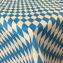 Tischdecke Bayrische Raute und Karo Muster -