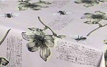 Tischdecke Blüten und Bienen - Tischbelag abwaschbar - Meterware - Rollenbreite 140 cm