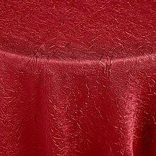 Tischdecke Brighton rund, 140 cm (Ø), rot, rund