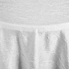 Tischdecke Brighton rund, 140 cm (Ø), weiß, rund