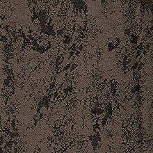Tischdecke Brilliant Meliert mit Lotus Effekt Eckig 130x260 cm Dunkelbraun Braun - Farbe, Form und Größe wählbar mit Fleckschutz - (BrM_E130x260Braun)