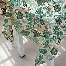 Tischdecke bunte grüne pflanze druck baumwolle