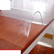Tischdecke/burn-proof,wärmedämmung,weichglas,tischtuch/frosted couchtisch pad/tischtuch/wasserdicht],pvc transparent,verdicken sie,plastiktisch mat-B 80x80cm(31x31inch)