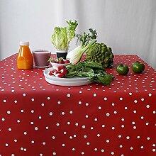 Tischdecke Confetti rot, 160 cm