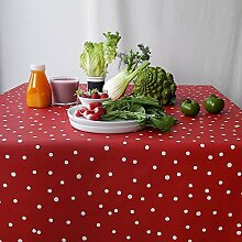 Tischdecke Confetti rot, rot, 160×240cm