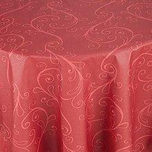 Tischdecke Cortona rund, 140 cm (Ø), rot, rund