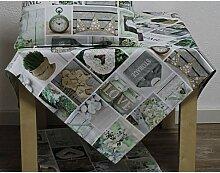 Tischdecke COTTAGE 85x85cm weiß bunt Hossner (19,95 EUR / Stück)