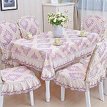 Tischdecke, Couchtisch Tuch runder Tisch Lace Leinen europäischer Stil rechteckig / rund ( Farbe : #3 , größe : 150x200cm )