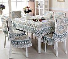 Tischdecke, Couchtisch Tuch Runder Tisch Lace Leinen europäischen Stil 130X180cm ( Farbe : #2 )