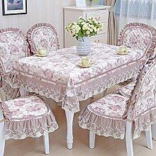 Tischdecke, Couchtisch Tuch runder Tisch Lace Leinen europäischer Stil rechteckig / rund ( Farbe : #3 , größe : 110x160cm )