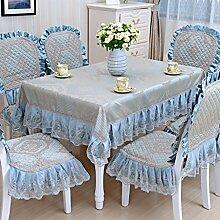 Tischdecke, Couchtisch Tuch runder Tisch Lace Leinen europäischer Stil rechteckig / rund ( Farbe : #2 , größe : 130x130cm )