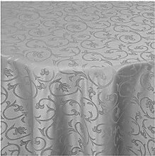 Tischdecke Damast mit Saum im Barockdesign - Eckig